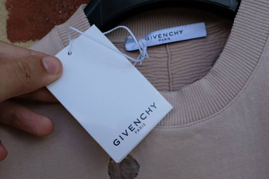 Givenchy Pink Destroyed Logo Sweater Size US XS / EU 42 / 0 - 7