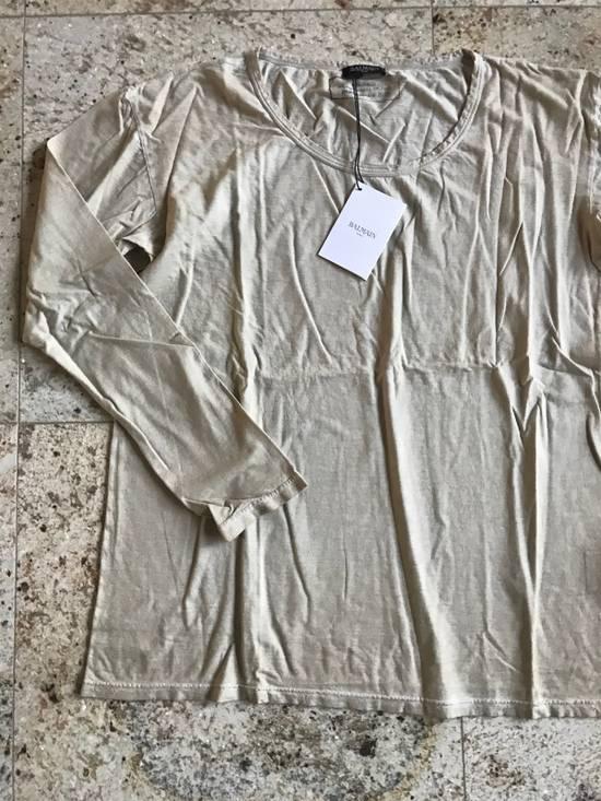 Balmain Distressed Khaki LS Tes Size US XL / EU 56 / 4 - 4