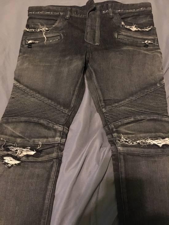 Balmain Balmain Black Biker Jeans Size 32 Size US 32 / EU 48 - 2