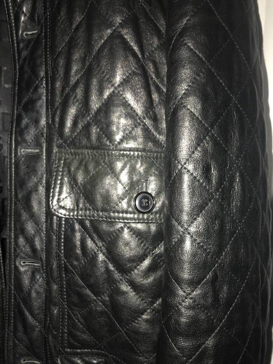 Givenchy Men's Dolce & Gabanna Quilted Leather Bomber Jacket Size 48 Size US M / EU 48-50 / 2 - 5