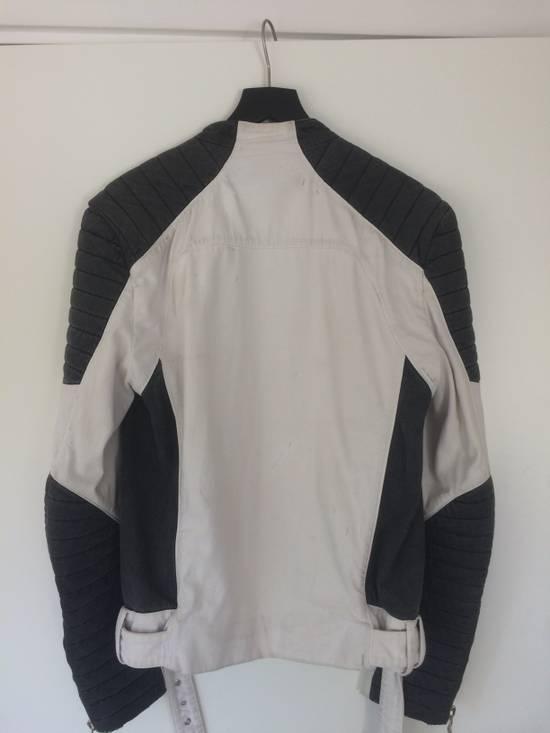 Balmain Balmain Men's Black Contrast Panel Biker Jacket Size US L / EU 52-54 / 3 - 1