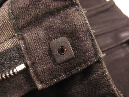 Balmain Classic Moto Jeans Made in Japan Style No. W4HT551C710W Black Coated Skinny Stretch Denim Biker Pants 32 x 32 Size US 32 / EU 48 - 10