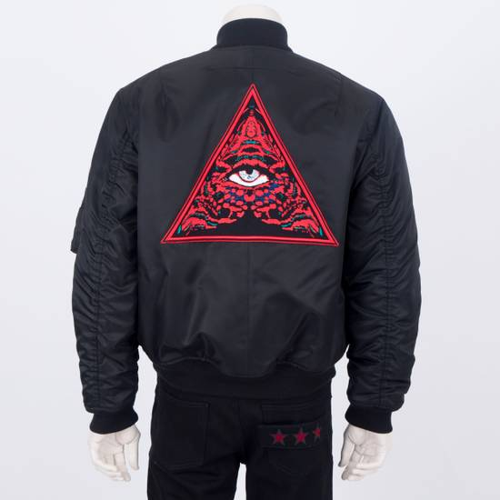 Givenchy 2550$ New Black Padded Nylon Illuminati Patch Bomber Jacket Size US L / EU 52-54 / 3