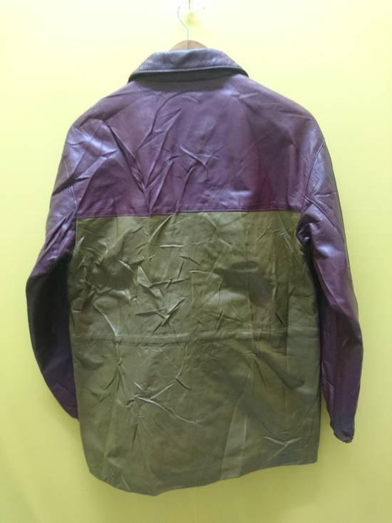 Balmain Pierre bailmain leather two tone colour jacket Size US L / EU 52-54 / 3 - 1
