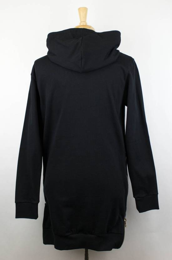Balmain Men's Black Cotton Embroidered Long Hooded Sweater Size Large Size US L / EU 52-54 / 3 - 2