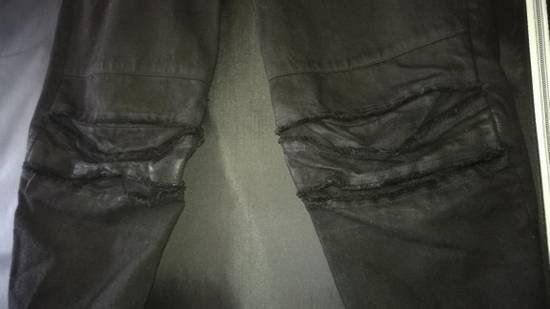 Julius 2010SS Distress Destroyed Coated Denim Slim Biker Jeans Size US 34 / EU 50 - 2