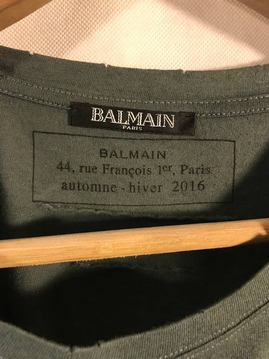Balmain F/W 16 Army Green Tee Size US M / EU 48-50 / 2 - 1