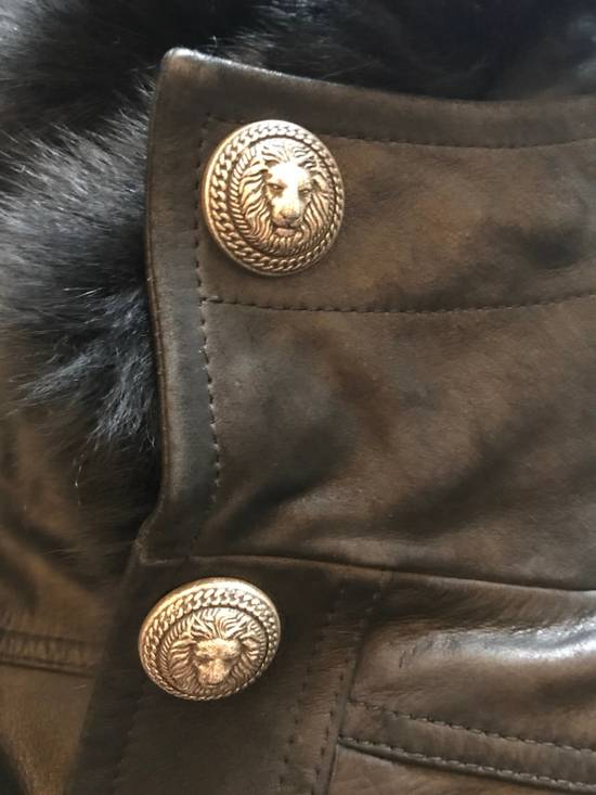 Balmain Leather Parka With Fur With Detachable Jacket And fur Size US M / EU 48-50 / 2 - 8