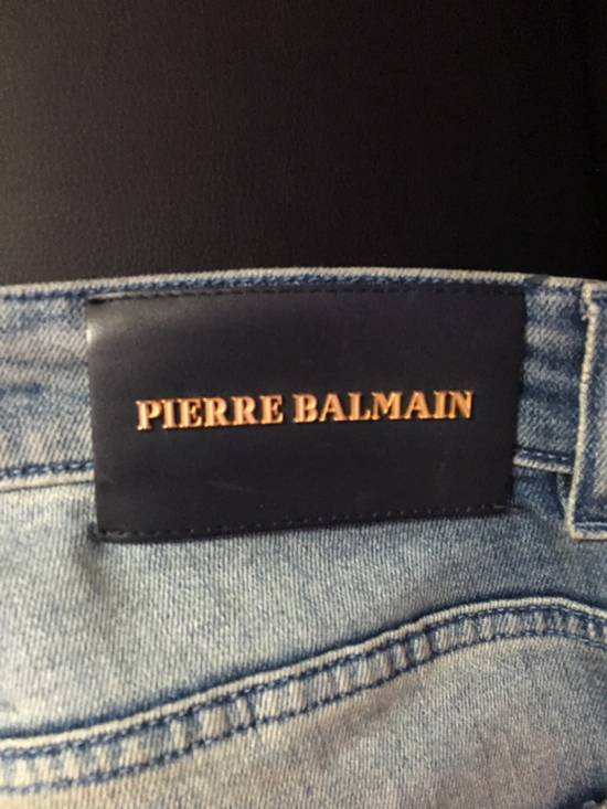 Balmain Distressed Biker Moto Jeans Size US 36 / EU 52 - 3