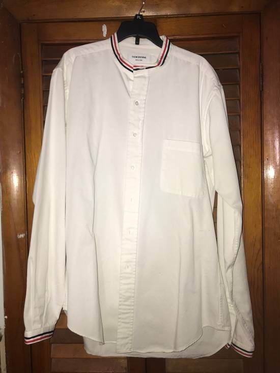 Thom Browne Thom Browne Collarless White Oxford Button Up large Size US L / EU 52-54 / 3