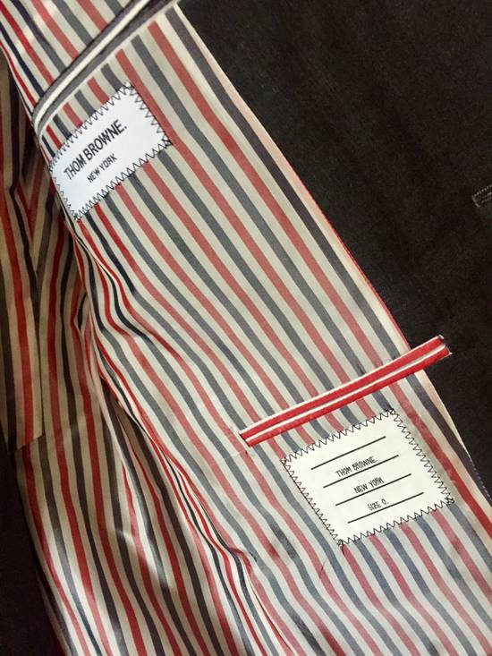 Thom Browne DARK GREY TWILL SUIT WITH TIE Size 36S - 1