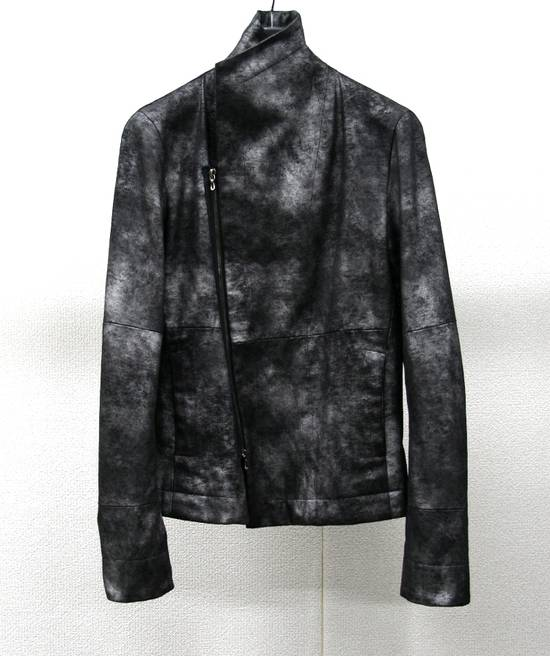 Julius FW07 Black/Silver Coated Cotton Jacket Size US M / EU 48-50 / 2 - 10