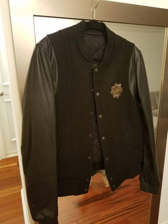 Balmain Balmain Varsity Teddy Bomber Jacket Leather Wool Black Size 52 Decarnin FW10 Large Baseball Size US L / EU 52-54 / 3 - 5