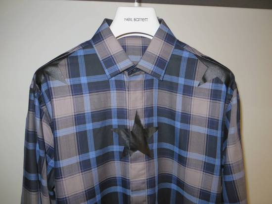 Givenchy Star-print plaid shirt Size US L / EU 52-54 / 3 - 1