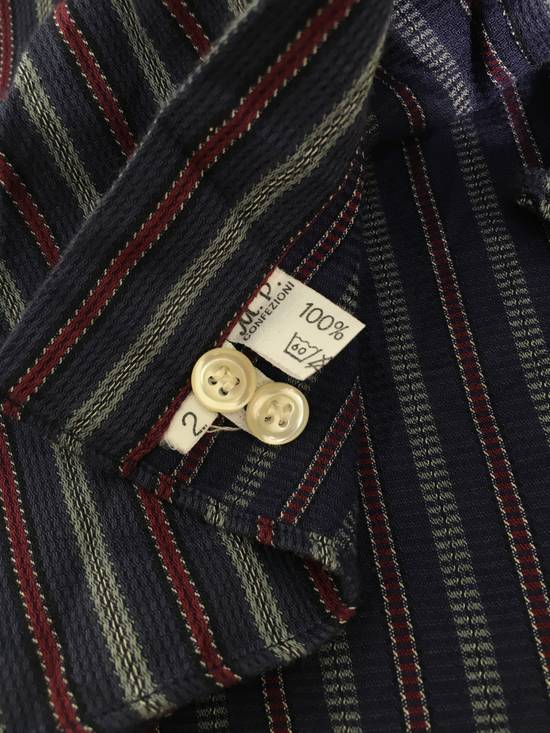 Givenchy Gentleman Givenchy Indigo Red Stripes Casual Shirt Made in Italy Size US M / EU 48-50 / 2 - 11