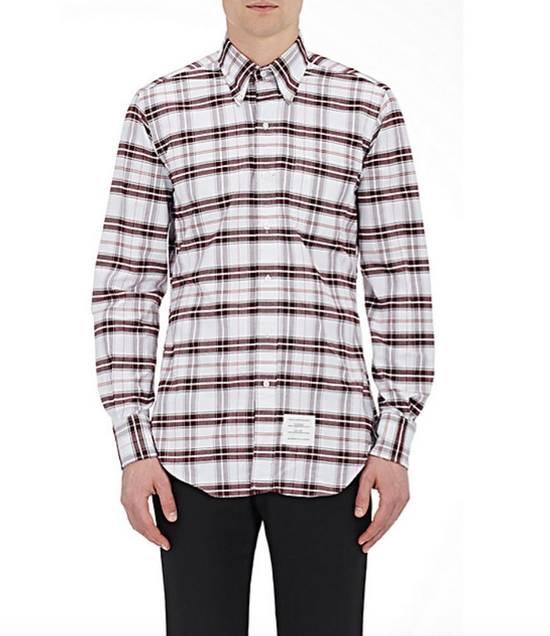 Thom Browne Plaid Oxford Cloth Shirt with Grosgrain Tab NEW Size US S / EU 44-46 / 1 - 2