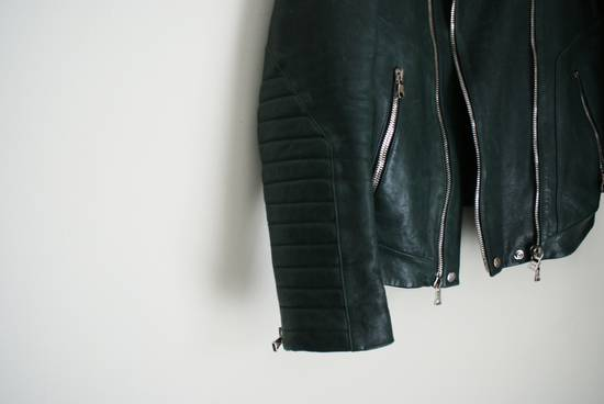 Balmain green leather jacket Size US XL / EU 56 / 4 - 2