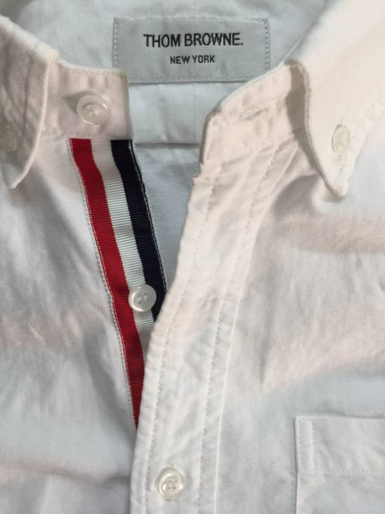 Thom Browne White Oxford With Grosgrain Placket Size US S / EU 44-46 / 1 - 3