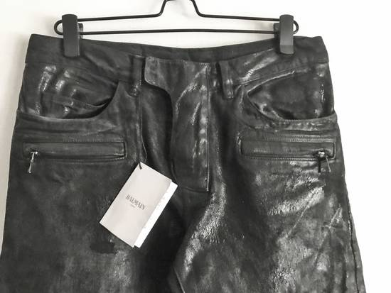 Balmain Brand New Biker Coated Jeans Size US 30 / EU 46 - 2