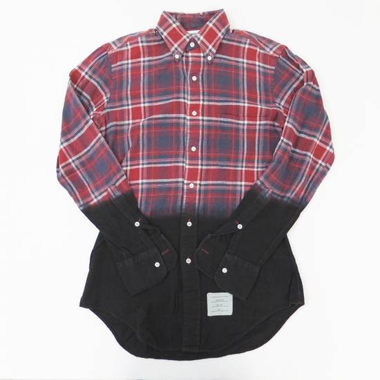 Thom Browne Long Sleeve Red × Blue × Black Checkered Pattern Shirt Button Up Size US L / EU 52-54 / 3 - 2