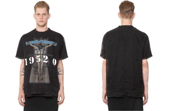 Givenchy Givenchy 19520 Jesus Silk Organza Sheer Madonna Oversized T-shirt size XS (L) Size US XS / EU 42 / 0 - 6