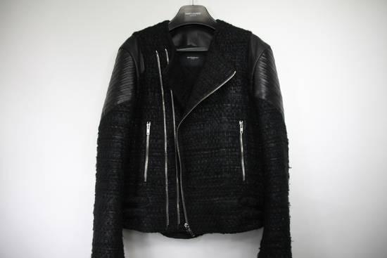 Givenchy $8k AW13 Givenchy Black Tweed & Leather Biker Jacket Size 48 Size US M / EU 48-50 / 2 - 13