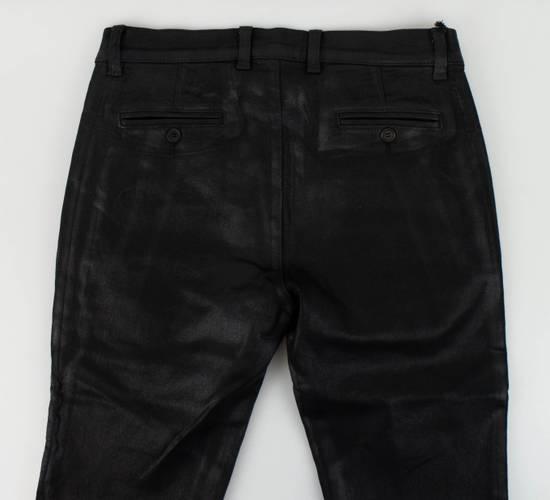 Balmain BNWT Biker Skinny Waxed Denim Black Zipper Jeans Size US 30 / EU 46 - 4