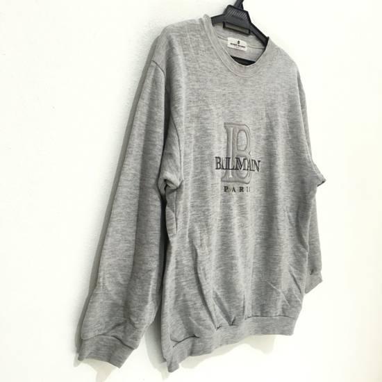 Balmain Vtg PIERRE BALMAIN PARIS Big Logo Made In JAPAN Gray MEDIUM Sweatshirt Jumper Size US M / EU 48-50 / 2 - 1