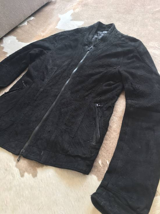 Julius $2200 Lamb Leather Blistered And Reversed Moto Jacket Made In Japan In Mint Condition Size US M / EU 48-50 / 2 - 1