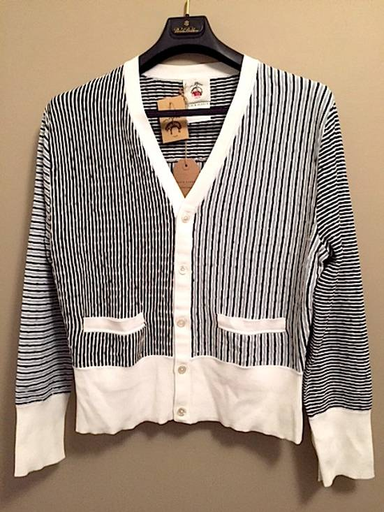 Thom Browne Striped Cardigan with Grosgrain Detail NEW Rare Size US XL / EU 56 / 4
