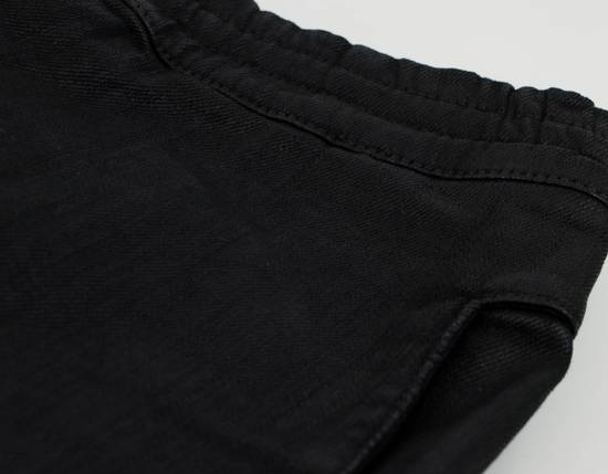 Balmain Black Waxed Denim Biker Sweat Track Pants Size US 36 / EU 52 - 2
