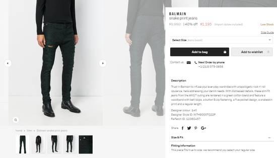 Balmain Size 36 - Distressed Snake Print Rockstar Jeans - FW17 - RARE Size US 36 / EU 52 - 14