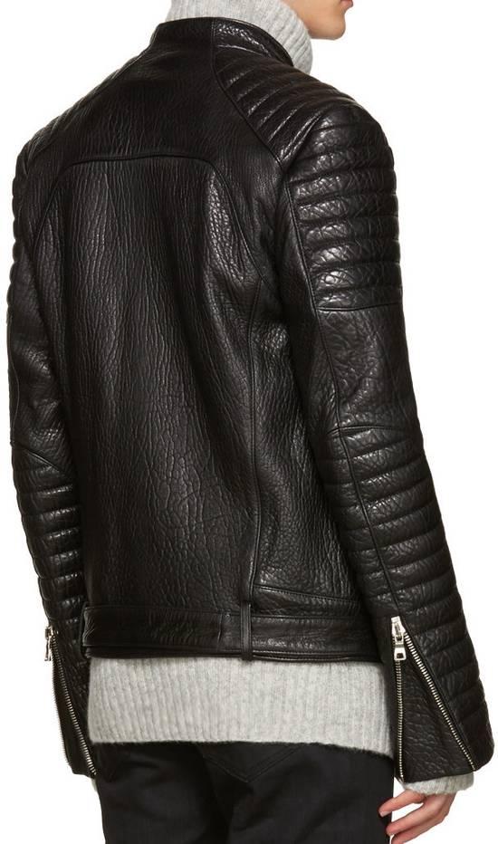Balmain Balmain Black Leather Collared Biker Jacket Size US M / EU 48-50 / 2 - 2