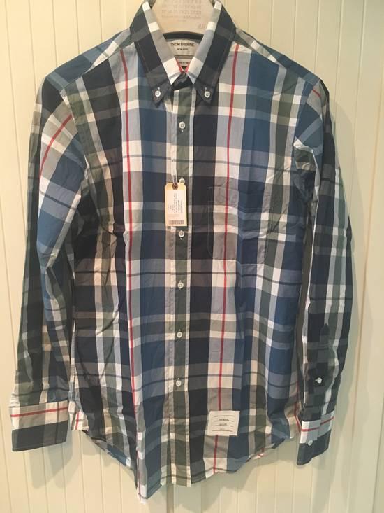 Thom Browne Large Madras Check Poplin Cotton Shirt Size US M / EU 48-50 / 2 - 1