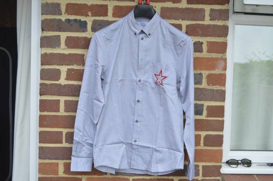 Givenchy Grey Embroidered Star Shirt Size US M / EU 48-50 / 2
