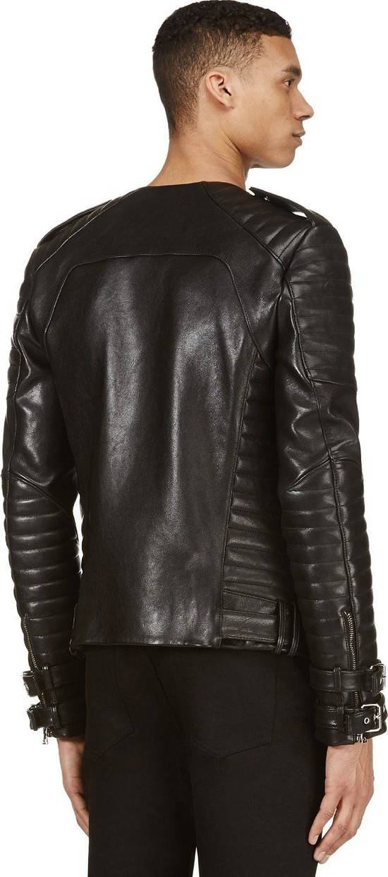 Balmain Black Lambskin Overlong Biker Perfecto Jacket EU48/US38 Size US M / EU 48-50 / 2 - 10