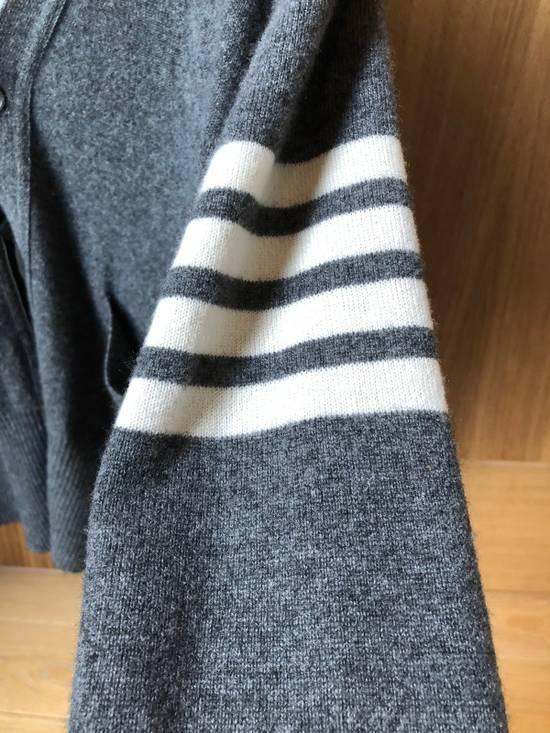 Thom Browne Signature Grey Cashmere Cardigan Size US M / EU 48-50 / 2 - 2