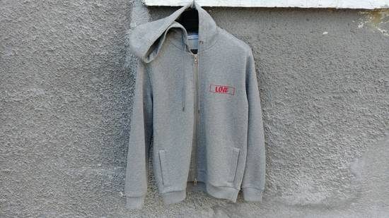 Givenchy $1050 Givenchy Grey Love Embroidered Zip Rottweiler Shark Hoodie size XS (S) Size US S / EU 44-46 / 1
