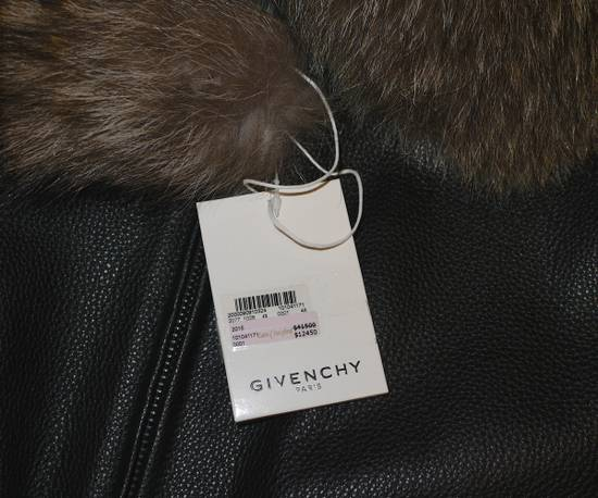 Givenchy Givenchy 15AW Raccoon Collar Calf Leather Jacket size 48 Size US M / EU 48-50 / 2 - 6