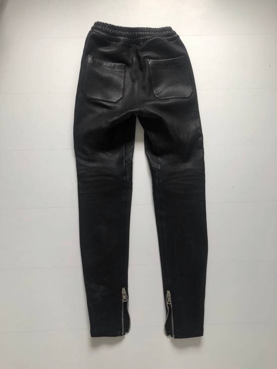 Balmain Leather Sweatpants Size S Size US 30 / EU 46 - 3
