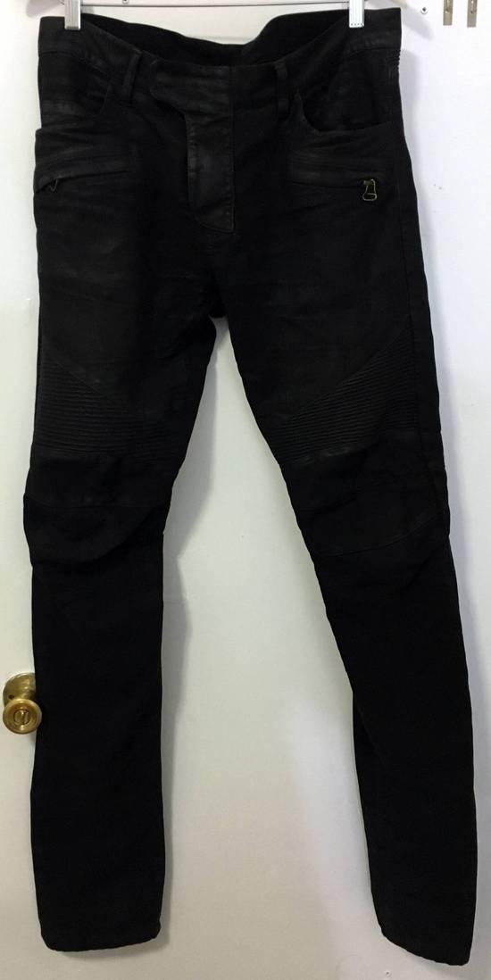 Balmain Waxed biker jeans black Size US 32 / EU 48 - 1