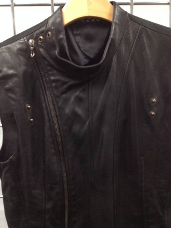 Julius LEATHER BIKER VEST Size US S / EU 44-46 / 1 - 1