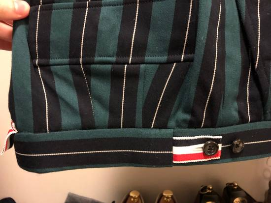 Thom Browne Thom Browne Pinstripe Trousers With Flappy Back Pockets And Cashmere Leg Warmer Size US 30 / EU 46 - 1