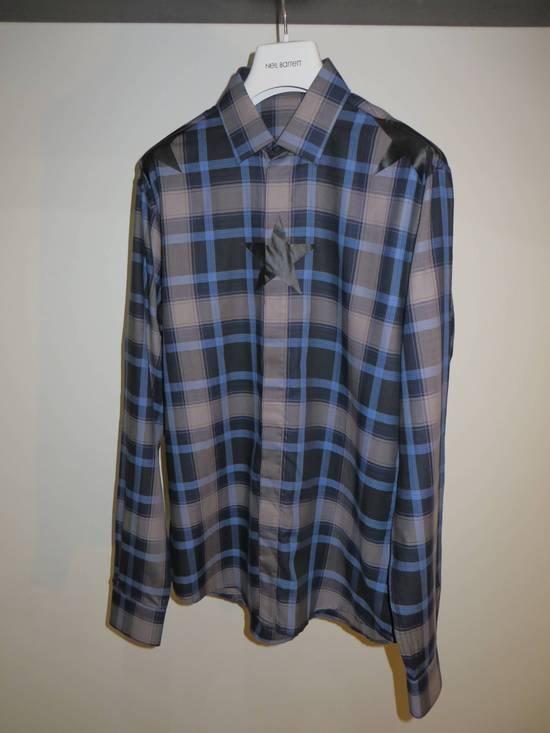 Givenchy Star-print plaid shirt Size US S / EU 44-46 / 1