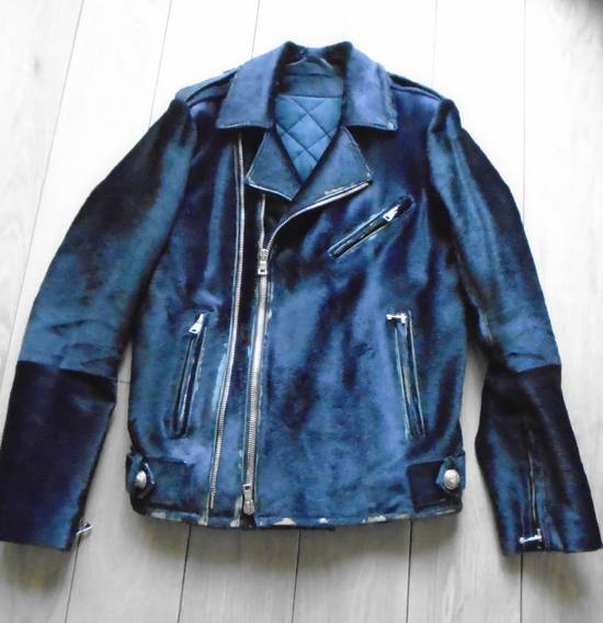 Balmain Calf-Hair Biker Jacket. Size US M / EU 48-50 / 2 - 1