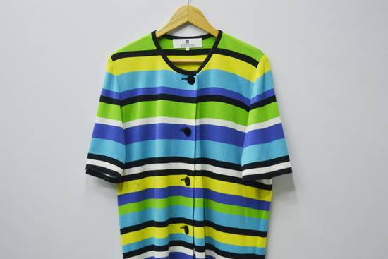 Givenchy Givenchy Shirt Givenchy T Shirt Givenchy Vintage Button Down Multicolor Striped Shirt Vintage Givenchy Glamour Made in Japan Womens Size 44 Size US M / EU 48-50 / 2 - 2