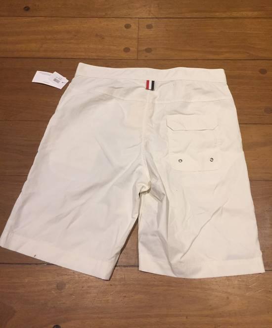 Thom Browne Need Gone NWT Off White Board Shorts Diagonal Stripe Size 3 Size US 32 / EU 48 - 5
