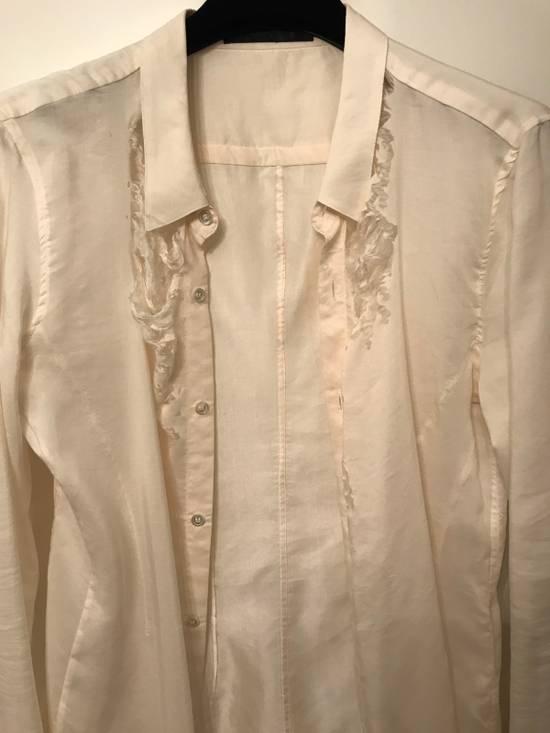 Julius Cotton-Silk Off White Distressed Shirt Size US M / EU 48-50 / 2 - 2