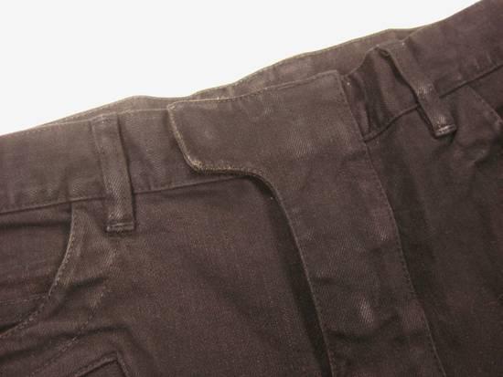 Balmain Classic Moto Jeans Made in Japan Style No. W4HT551C710W Black Coated Skinny Stretch Denim Biker Pants 32 x 32 Size US 32 / EU 48 - 8