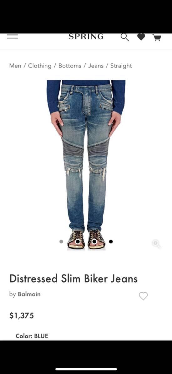 Balmain Balmain Distresses Biker Jeans Size US 31 - 1